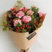 Carnations and Foliage Mix