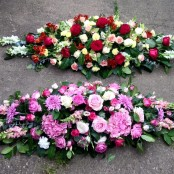 Beautiful Mixed Coffin Spray