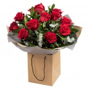 12 red roses - small- med head